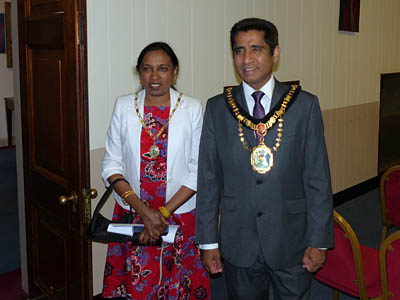 Mayor and Mayoress Krishna and Sasikala Suresh