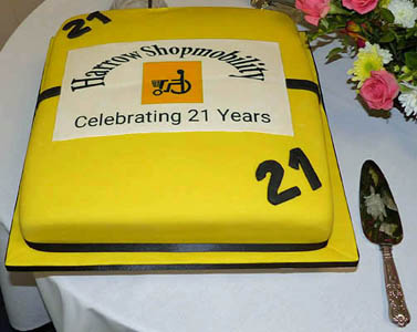 21st Anniversary Celebration Cake
